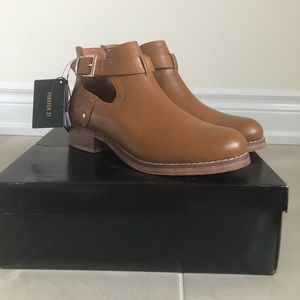 Forever 21 Faux leather tan ankle boots